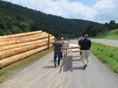 Floßbau Nagold Holzbeschaffung
