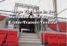 Seilrutsche Mercedes-Benz Arena Stuttgart
